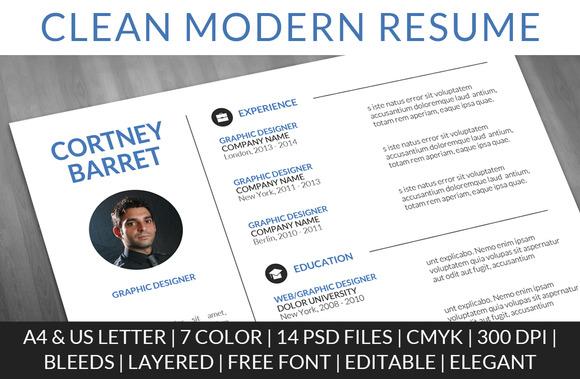 Clean Modern Resume - Resumes - 1