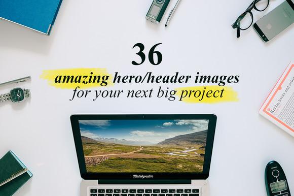 36 Hero/Header images Vol.3 - Product Mockups