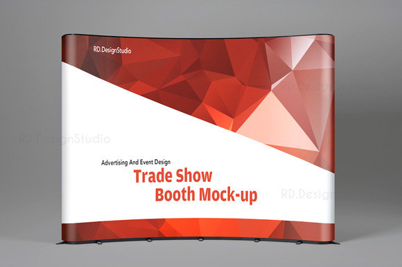 Free Pop Up Exhibition Stand Mockup : Tradeshow display booth mockup product mockups on