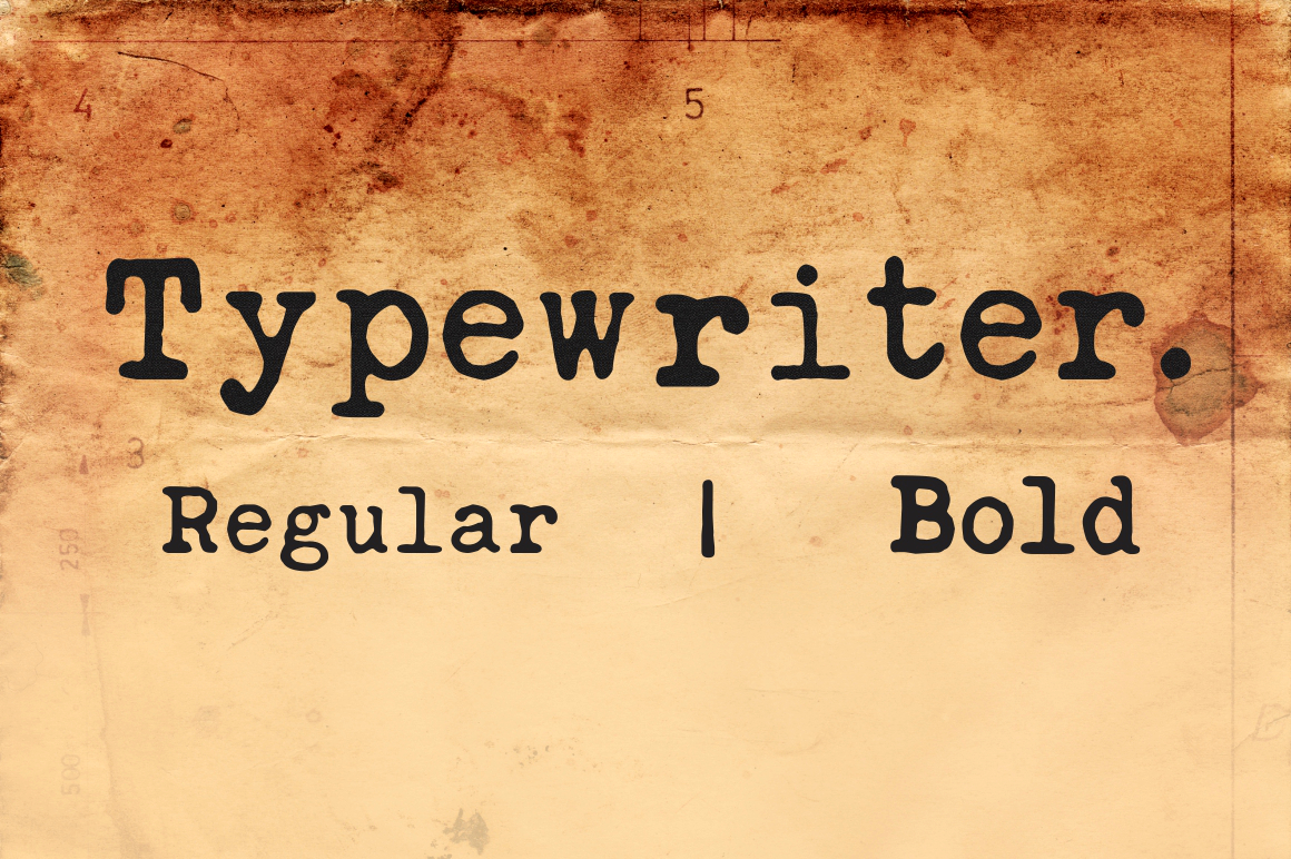Font that looks like old typewriter