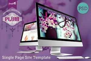 Plum - Single Page Site PSD Template