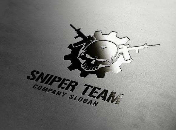 Creative Team Logo Sniper Team Logo