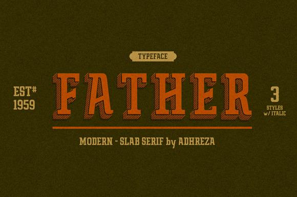 Father Typeface Slab Serif Fonts On Creative Market