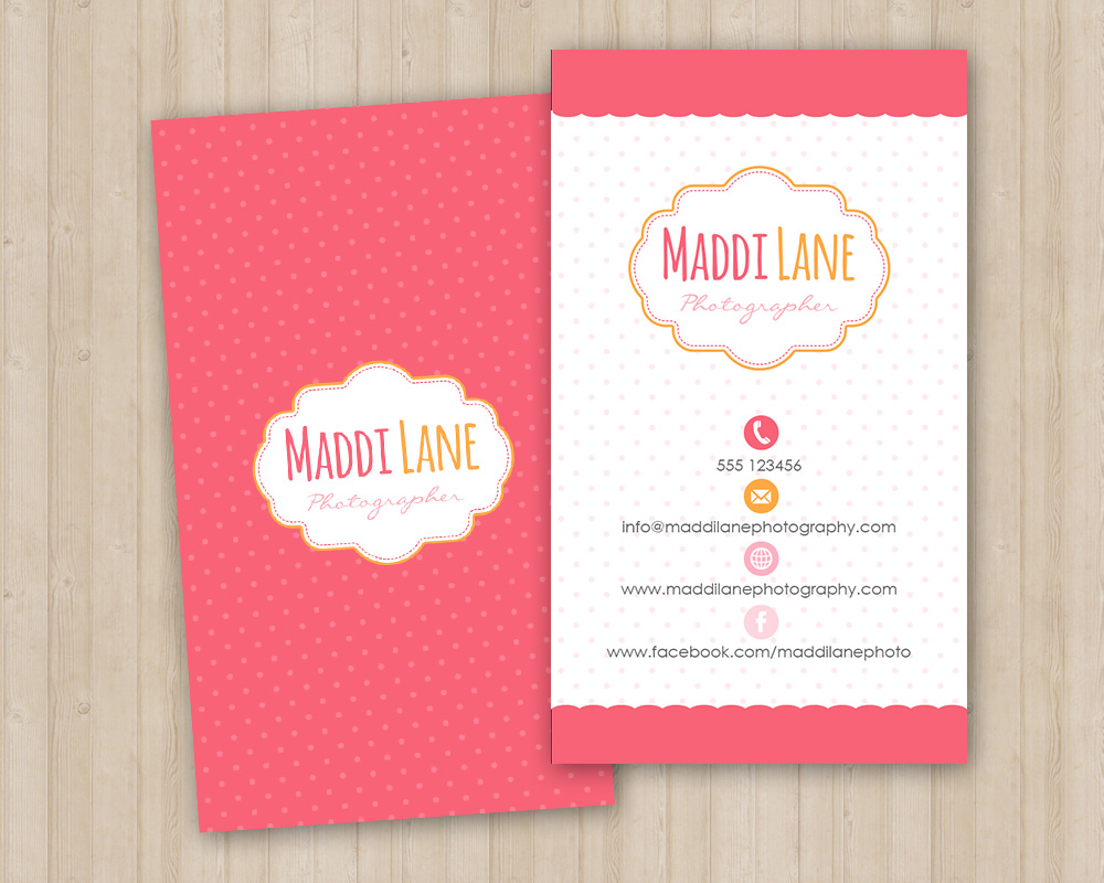 girly business card template