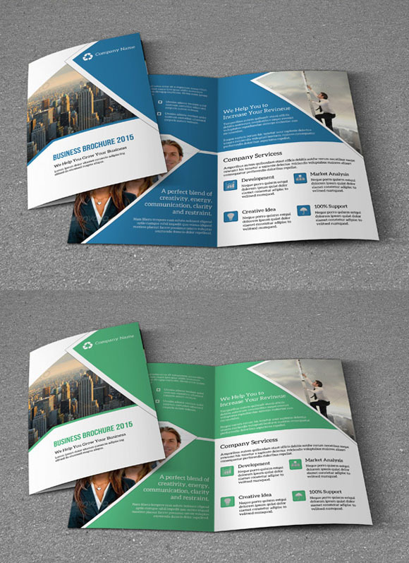 Bifold Corporate Brochure Template | Sistec