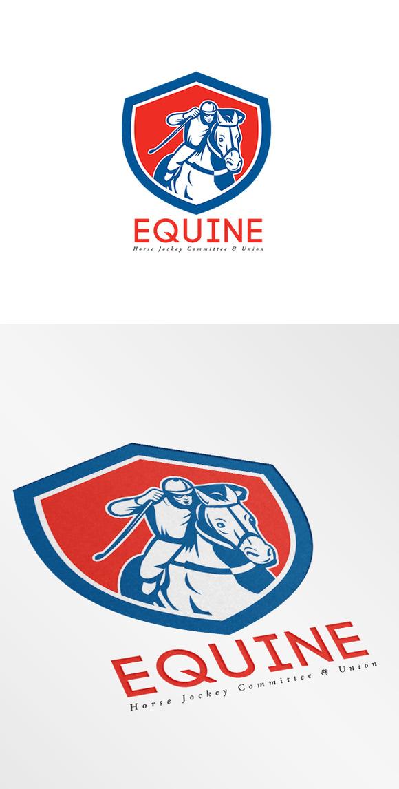 Horse Jockey Logo Equine Horse Jockey Union Logo
