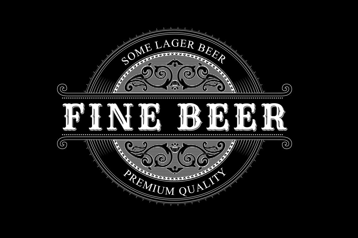vintage logo beer label logo templates on creative market. Black Bedroom Furniture Sets. Home Design Ideas