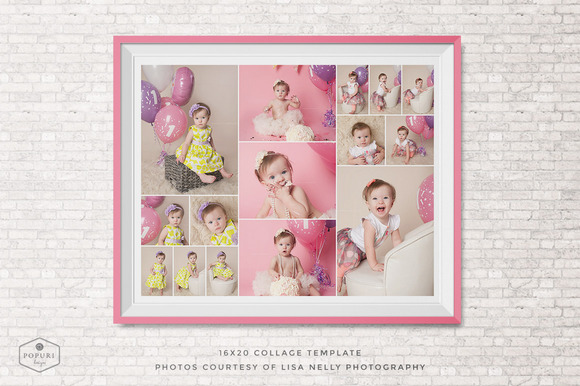 16x20 photo collage board template