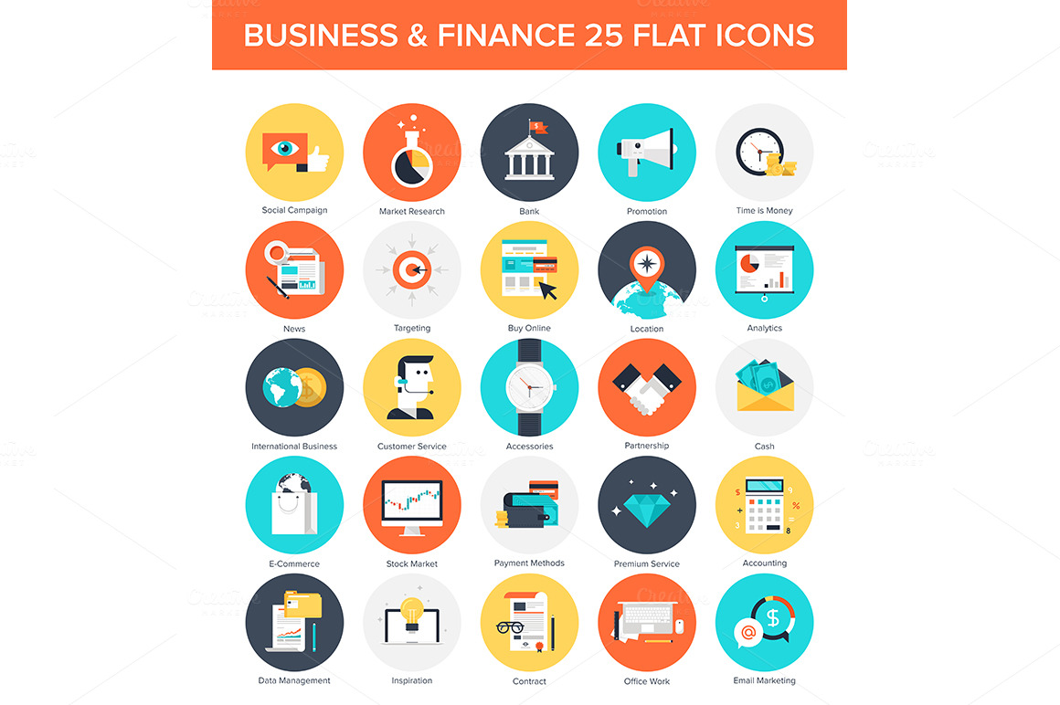 Business Icons. ~ Icons on Creative Market