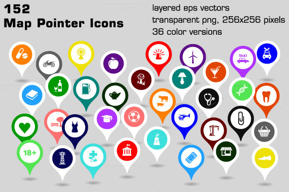 Icono Ubicacion Google Maps Png 3 Png Image: Icons On Creative Market