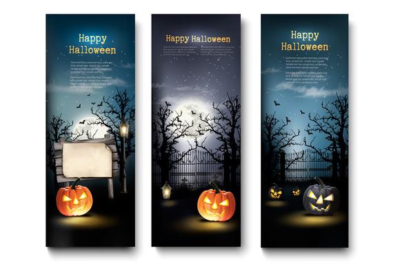 Three Halloween Background