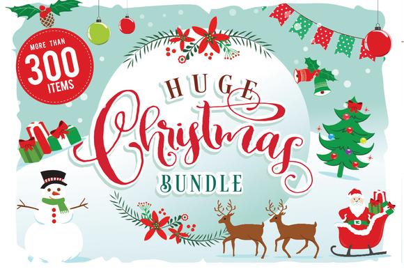 Christmas Clipart Bundle 300 items - $8