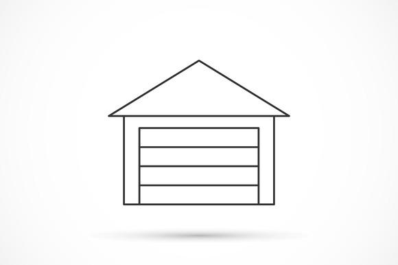 Garage Outline Icon