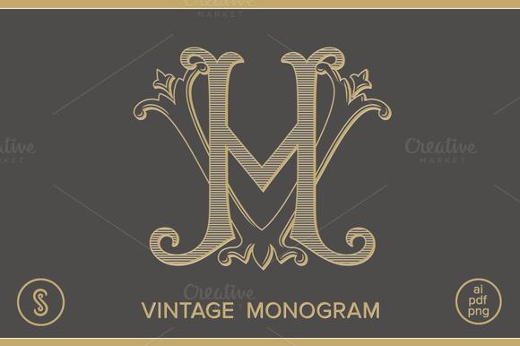HV Monogram VH Monogram