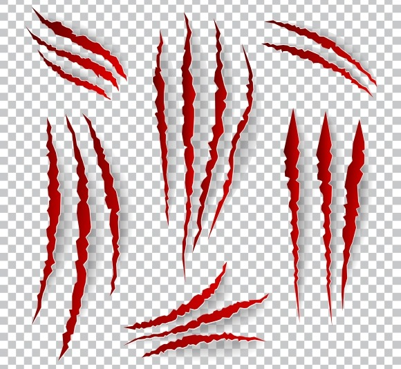 Realistic Claw Scratches