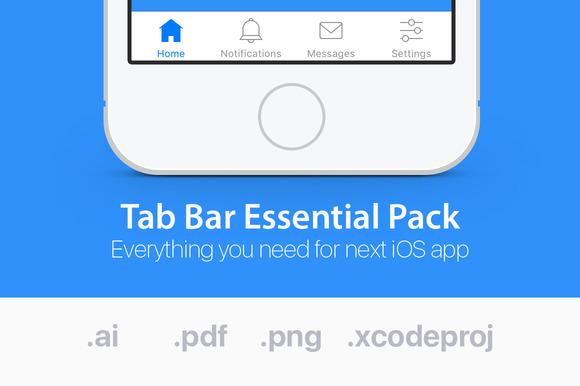 IOS Tab Bar Icons Essential Pack
