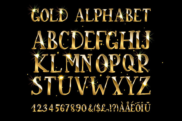 Golden English Alphabet