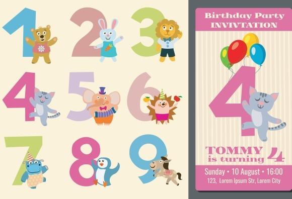 Kids Birthday Anniversary Numbers