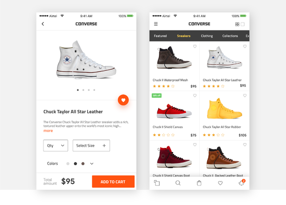 Converse Product Page Model-sketch