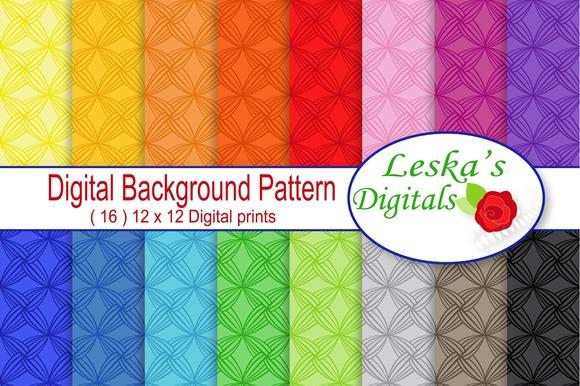 Digital Paper Backgrounds Rainbow