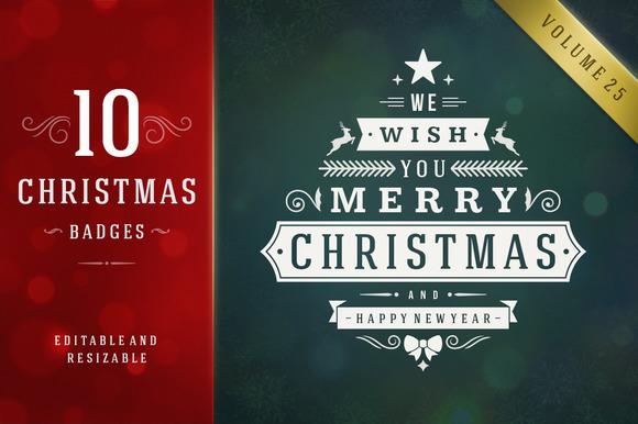 10 Christmas Logos And Badges