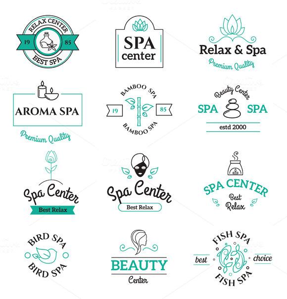 Spa Beauty And Body Care Vector Logo