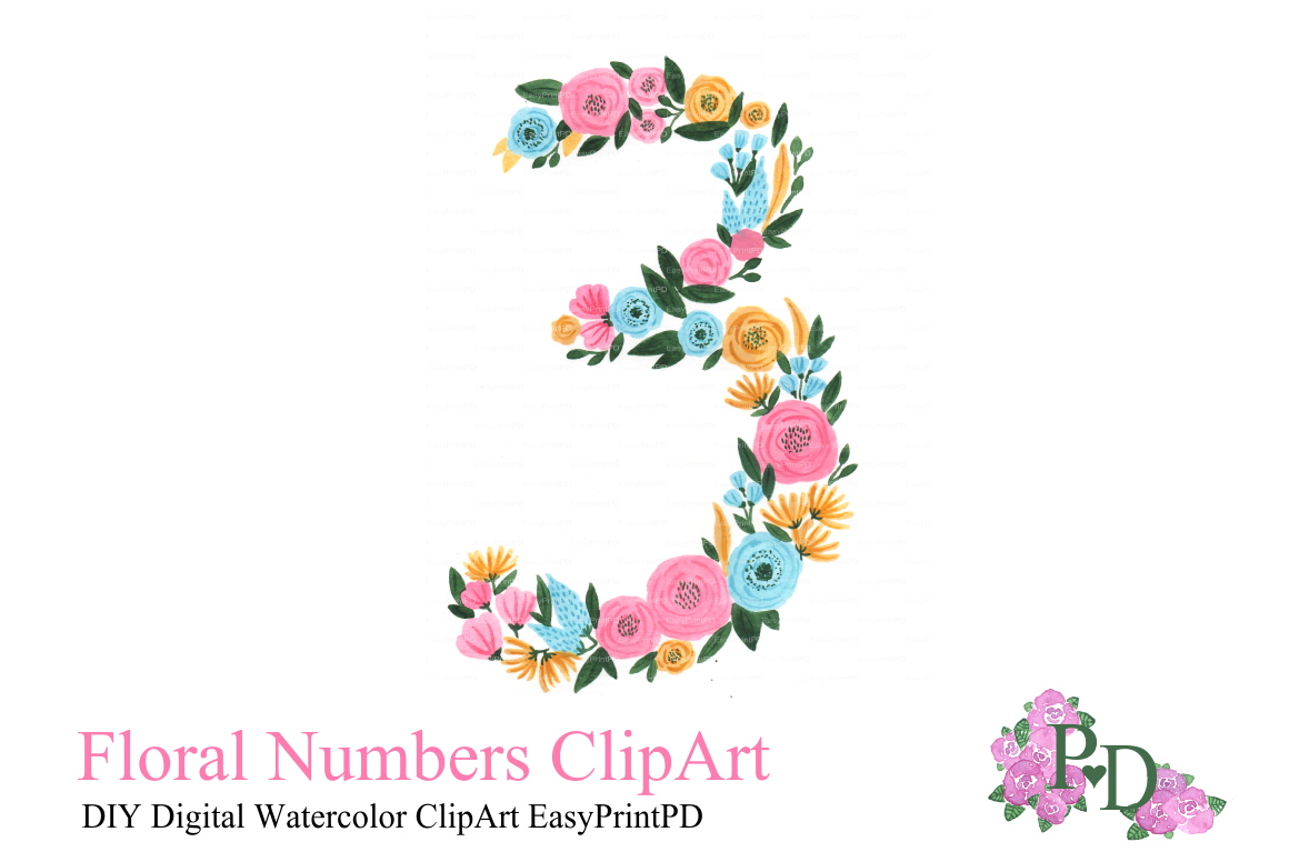 Hand Painted Numbers Creative Market