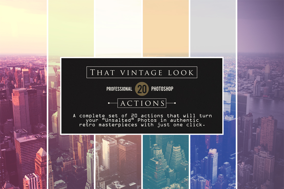 That Vintage Look - Photoshop Actions