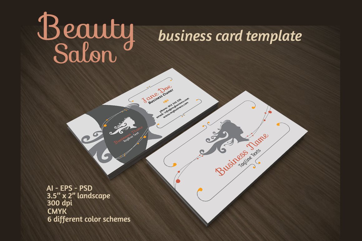 Beauty salon business card business card templates on - Beauty salon business ...