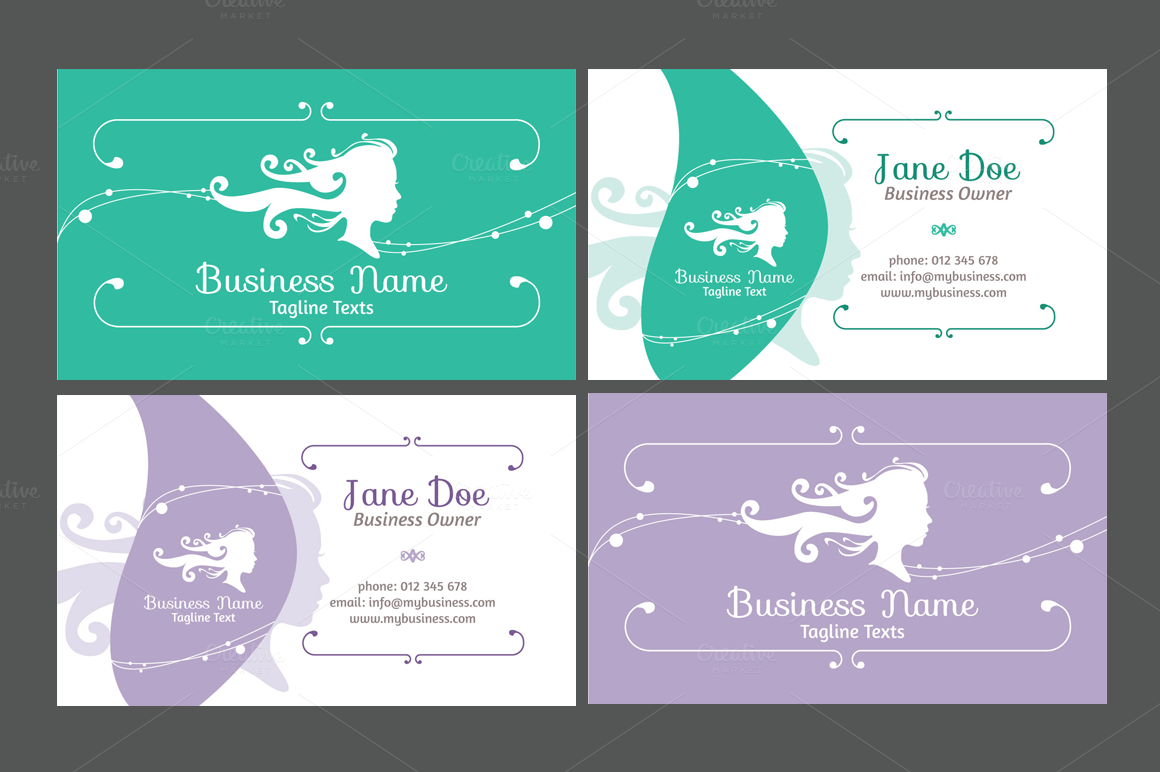 Hair Stylist Business Cards Templates Free