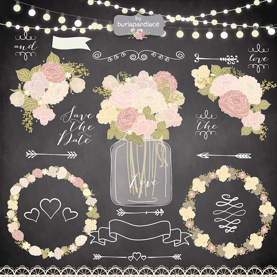 peach flower chalk