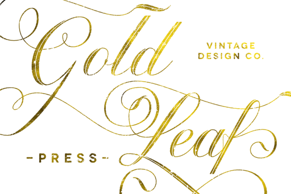 Gold Leaf Photoshop Layer