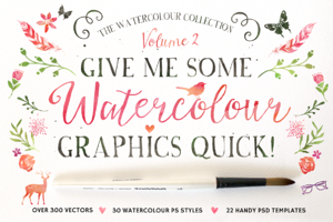 20%off • Watercolour Graphics Quick!