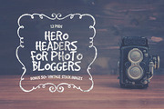 Hero Headers for Photo Blog-Graphicriver中文最全的素材分享平台
