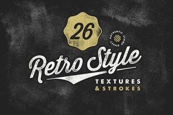 Retro Stamp Textures and Brush Pack - Textures - 1