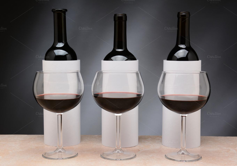 3 bottles for a blind wine tasting