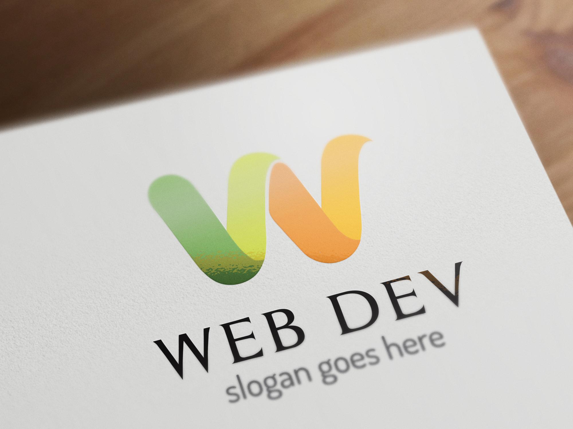 w letter logo template logo templates on creative market