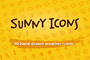 Sunny Icons: 90 weather ico-Graphicriver中文最全的素材分享平台