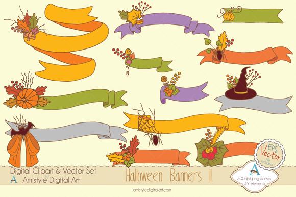 Halloween Banners II. Clipart&Vector - Illustrations