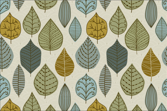 3 Autumn Leaf Pattern Set