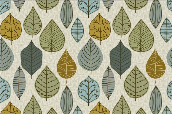 3 Autumn leaf pattern set ~ Patterns on Creative Market