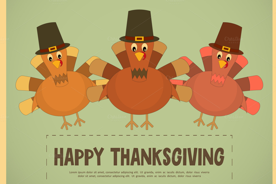Thanksgiving Day Illustrations On Creative Market
