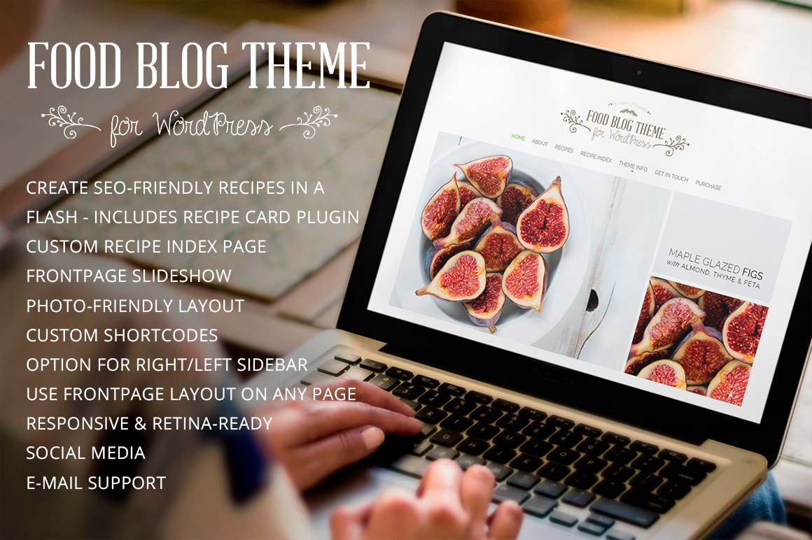 Food Blog Modern Wordpress Theme Wordpress Blog Themes