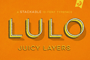 Lulo 3D Font Family