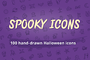Spooky Icons: 100 Halloween-Graphicriver中文最全的素材分享平台
