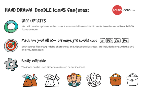 1000 Hand Drawn Doodle Icons - Icons - 2