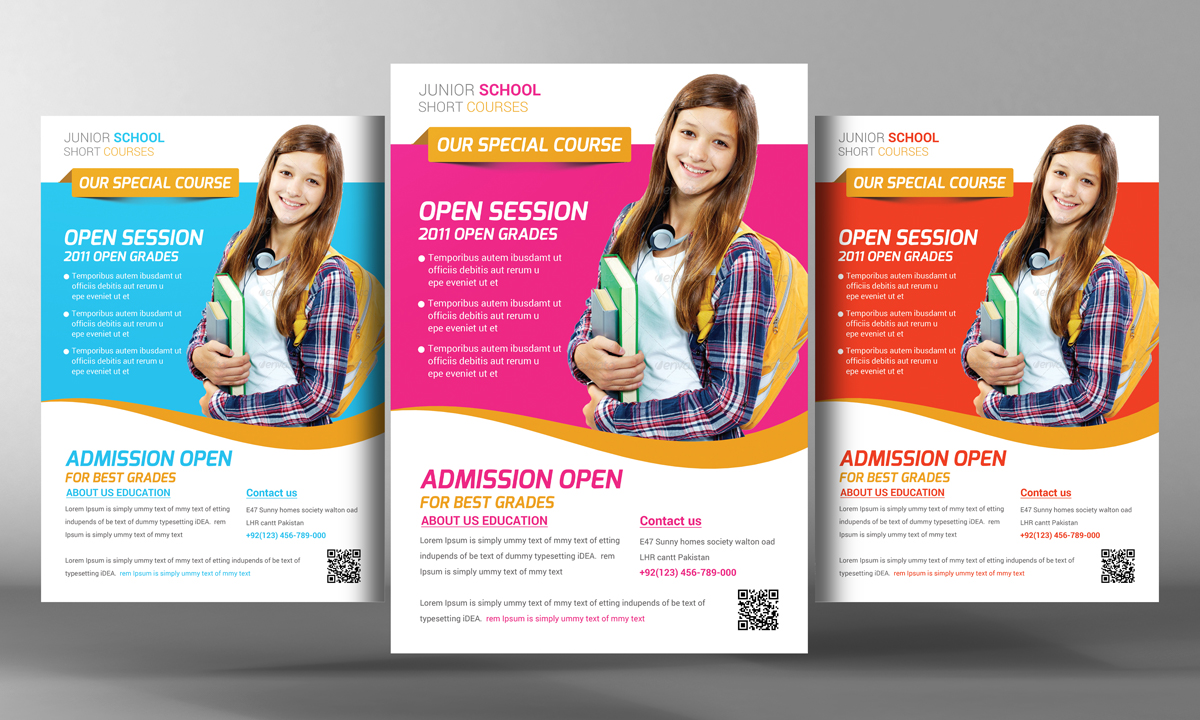 free education flyer templates