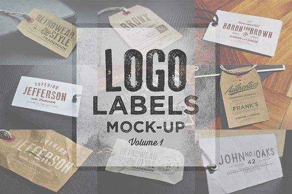 Logo Labels Mock-ups Vol.1 - Product Mockups