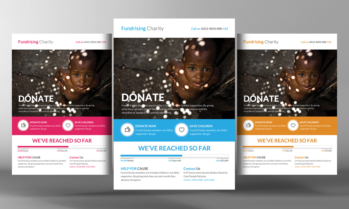 Charity Donation Flyer Template   Flyer Templates on Creative Market IBqugwVu
