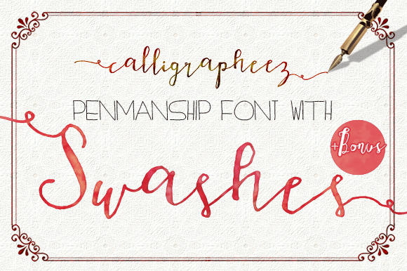 Calligrapheez Font Moderncalligraphy Script Fonts On